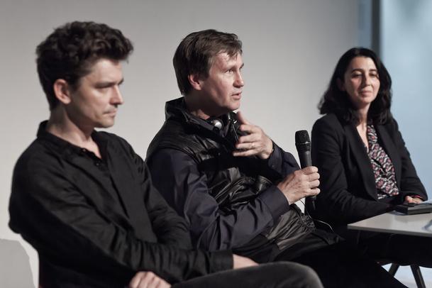 Grzegorz Jarzyna, Thomas Phifer, Joanna Mytkowska, czerwiec 2015, fot. MSN